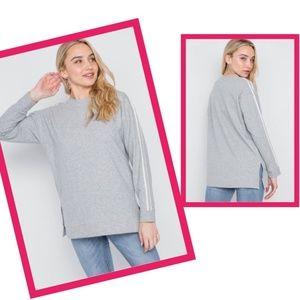 Heather Grey Sweatshirt Long Sleeve 100% Cotton S